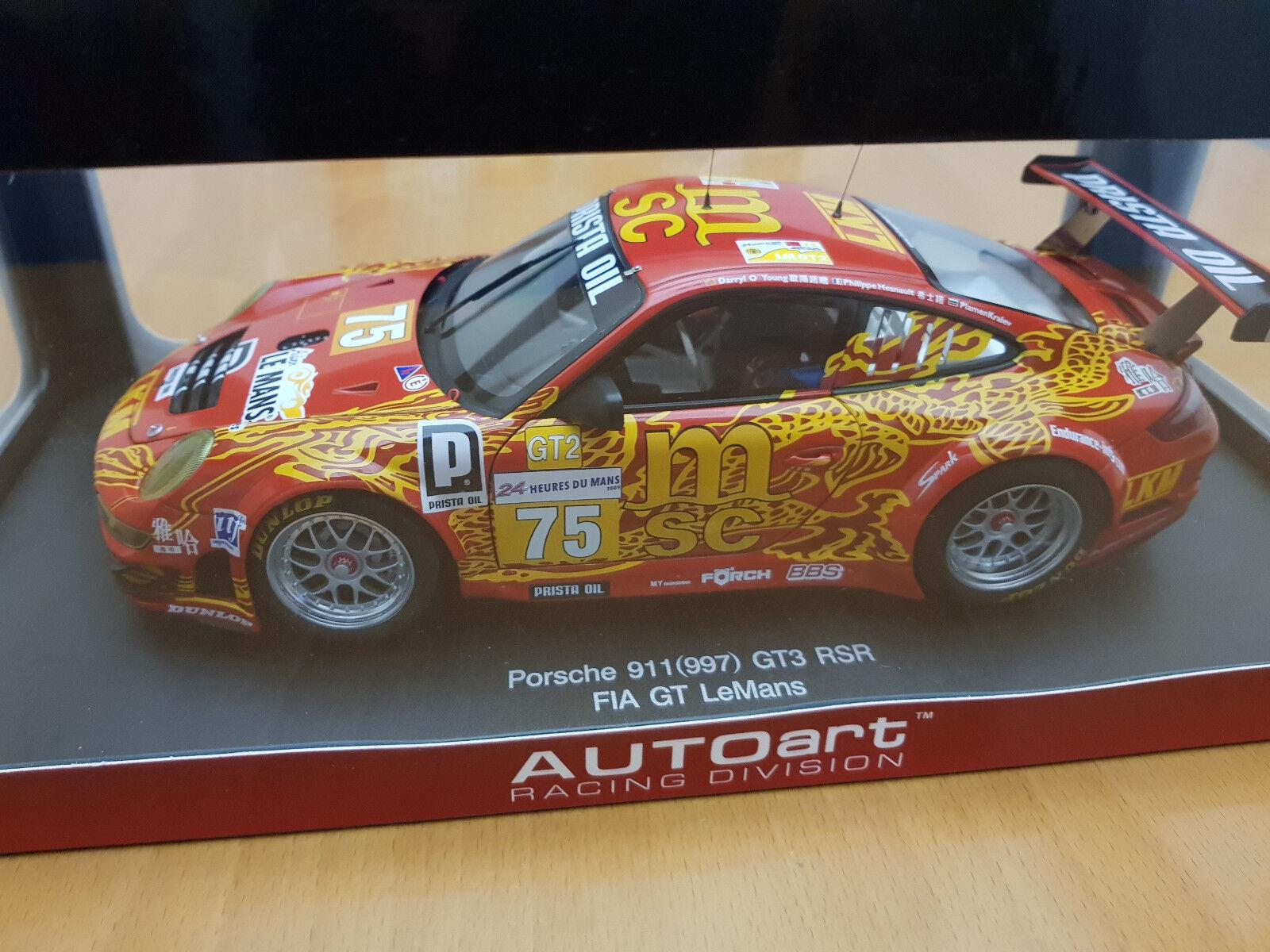 1 18 AUTOART PORSCHE 911 (997) GT3 RSR   Le Mans 2009