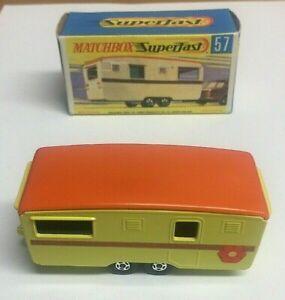 Vintage-MATCHBOX-SUPERFAST-No-57-Trailer-Caravan-Mint-In-Box