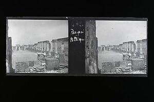 Pompei Italia Italia Lastra di vetro stereo NEGATIVO 1911