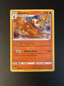 Pokemon Scudo E Spada Fiamme Oscure  Rara Foil Holo 024/189 Blaziken