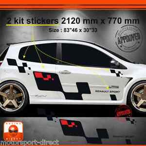 sticker renault clio rs 3 tuning sport aufkleber adesivi. Black Bedroom Furniture Sets. Home Design Ideas