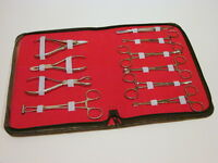 Kit 10 Pro Body Ear Tongue Navel Piercing Forceps Pliers Clamps Tools