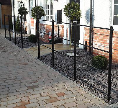 Heavy Wrought Iron Metal Garden Fencing / Steel Estate Railings / Fence Panels