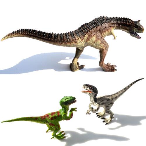 Deux Velociraptors Raptor Carnotaurus Dinosaures Modèles Toys Enfants Cadeau De Noël