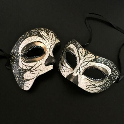 His /& Her Owl Ornaments Glitter /& Elaborate Masquerade Halloween Mask