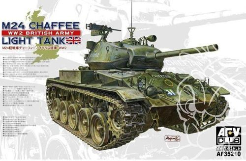 AFV Club 1 35 M24 Chaffee British Army Plastic Model Kit