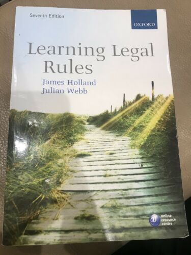 1 of 1 - Learning Legal Rules by Julian Webb, James A. Holland (Paperback, 2010)