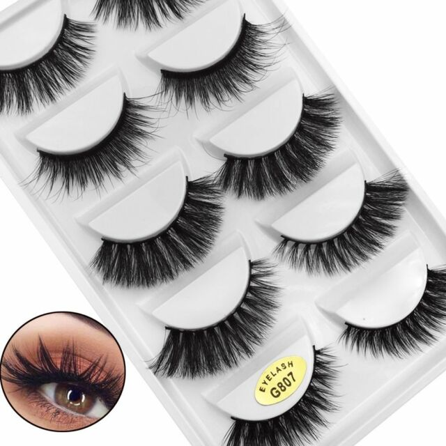 a1bc46581f8 Hot Sale Mix 5 Pairs 3D Soft Mink Hair False Eyelashes Thick Full Strips  Lashes
