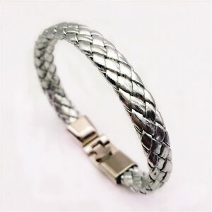 Jewelry-Fashion-Men-039-s-Women-Charm-Leather-Bracelet-Bangle-Cuff-Punk-Style-NEW