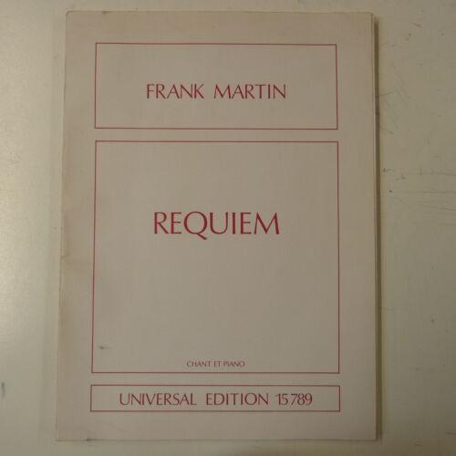 vocal score ue 15789 FRANK MARTIN requiem