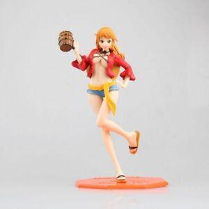 New One Piece 22 cm ANIME ACTION FIGURES Chapeau Paille Nami jouets en PVC sans boîte cadeau