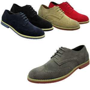 Men-039-s-Dress-Shoes-Wing-Tip-Classic-Lace-Up-Fashion-Oxfords-Casual-Colors-Sizes