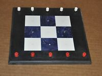 Handcrafted Corian Tic Tack Toe Game Board Handmade Travel Home Kids John Houze