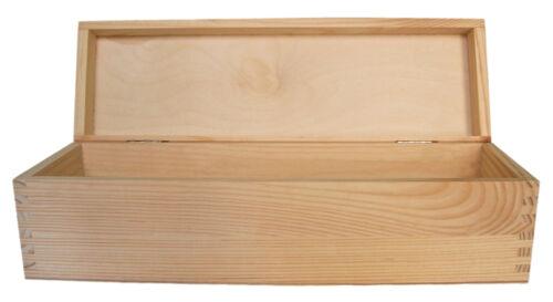 Superbe vin unique en bois pin case dd138 pièces stockage bouteille cadeau poitrine