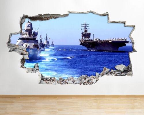 Autocollants Muraux navires bateaux marine armée militaire Fenêtre Autocollant 3D Art Vinyle Pièce F884