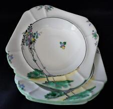 Rare~Shelley~4 x Dish Set English~c1925 Art Deco~#11674~Balloon Trees Pattern