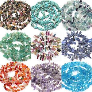 50pcs semi precious natural irregular stone chip drilled