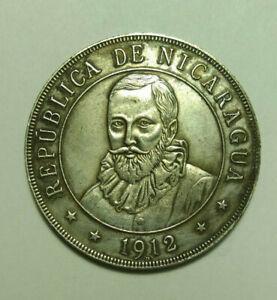 Coin 1 Cordoba 1912 Nicaragua Ebay