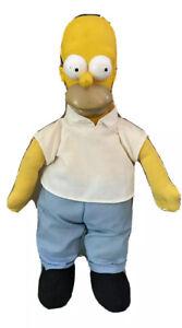 "Vintage 20th Century Fox's The Simpsons 11"" Homer Simpson Stuffed Doll 1990"