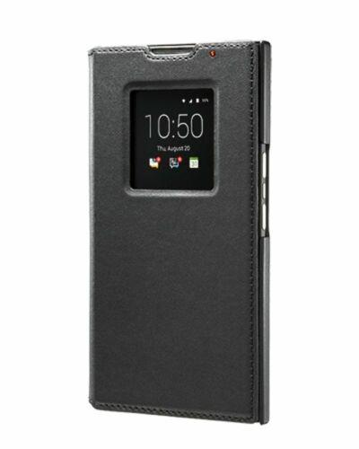 BlackBerry Leather Smart Flip Cover Case for BlackBerry Priv Black