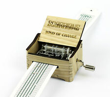 Scorpions - Wind Of Change / Hand Crank Paper Strip Wooden Music Box