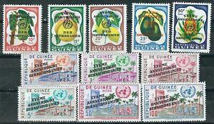 Guineascott-205-213-C27-28-MNH-15-Anniversaire-de-la-ONU-un-1960