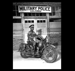 Details about Colored Military Police PHOTO World War 2, US Army Harley  Davidson Motorcycle