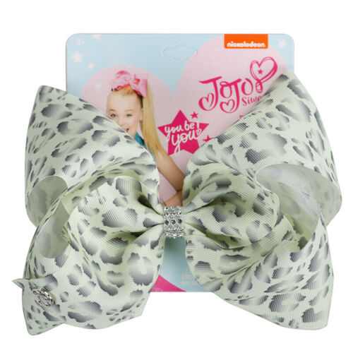 "8/"" Jojo Bows Hair Bow Kids Party Handmade Clip Ribbon Knot Jumbo for Girl Kids"
