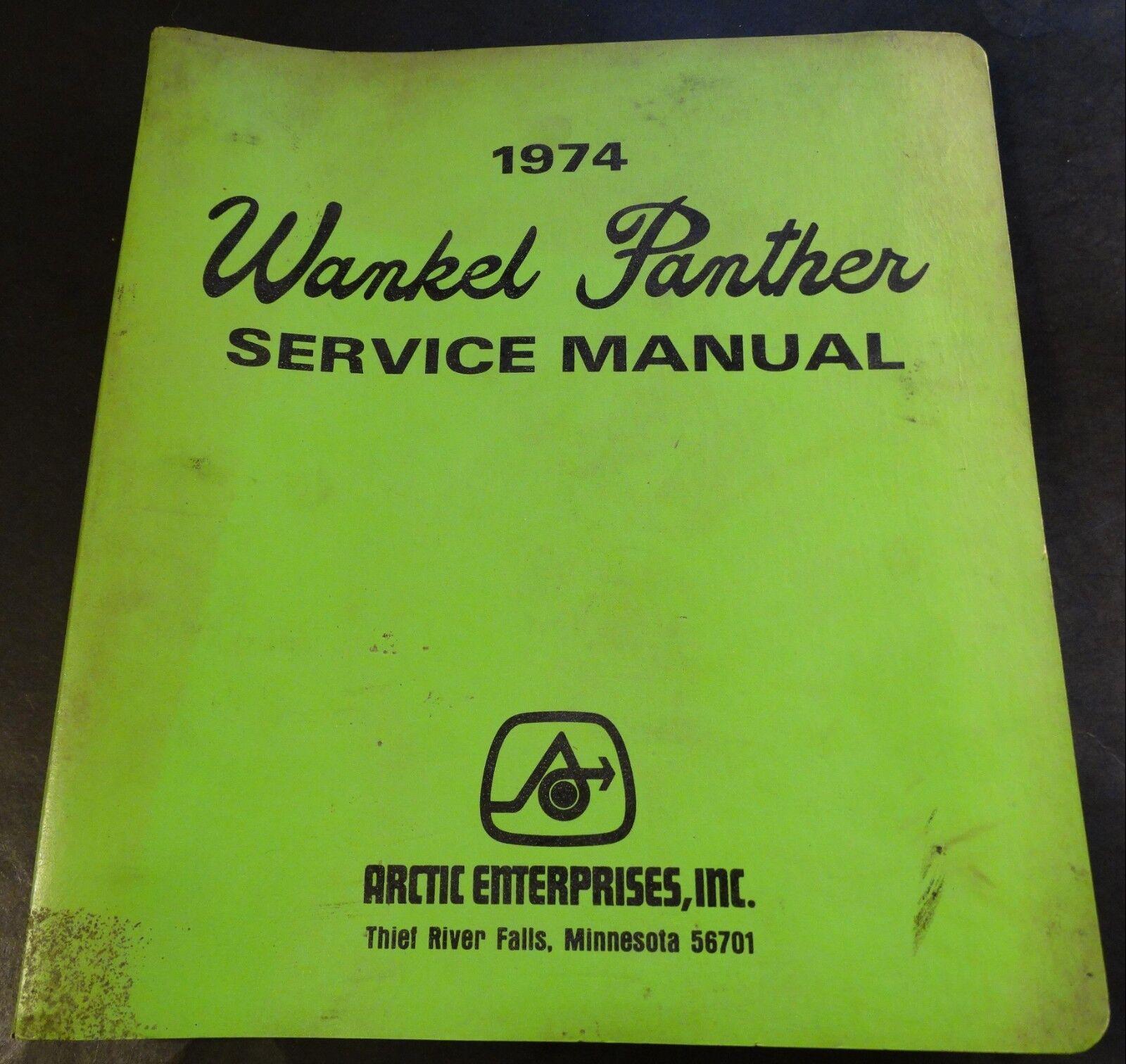 VINTAGE 1974 ARCTIC CAT WANKEL  PANTHER SERVICE MANUAL & PARTS MANUAL (722)  up to 50% off