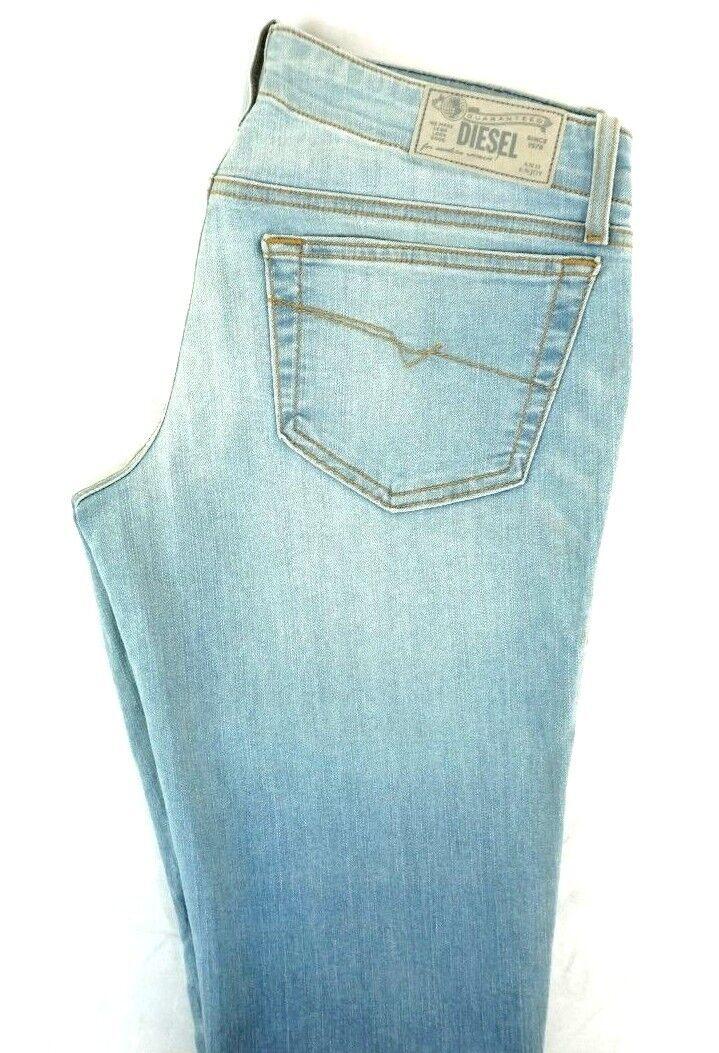NWT DIESEL Women's Light Wash 0RZ05 Grupee Super Slim Skinny Denim Jeans 28 x 32