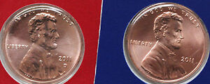 2011-P-and-D-Lincoln-Cent-2-Coin-US-Mint-Set-UNC-Blister-PK-One-Cent-Penny