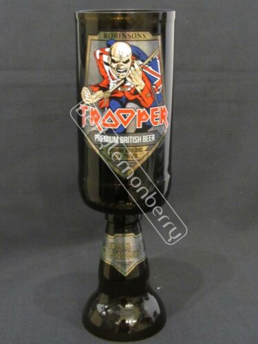 IRON MAIDEN TROOPER BEER 100/% RECYCLED ALE CHALICE GLASS GOBLET UNIQUE GIFT!