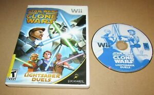 Star Wars: The Clone Wars - Lightsaber Duels for Nintendo Wii Fast Shipping!