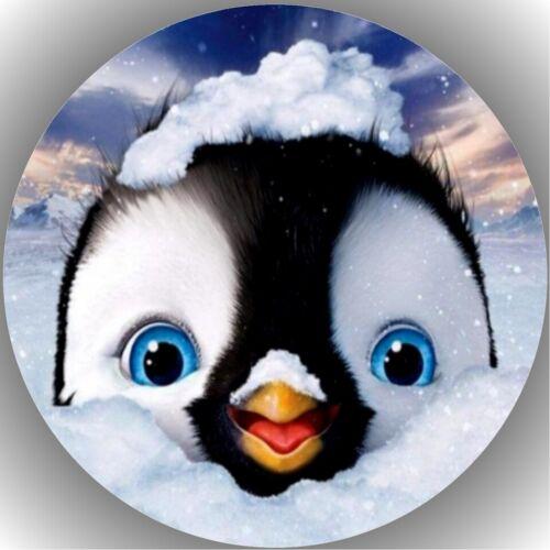 Tortenaufleger Geburtstag Tortenbild Fondant Oblate Pinguin L27