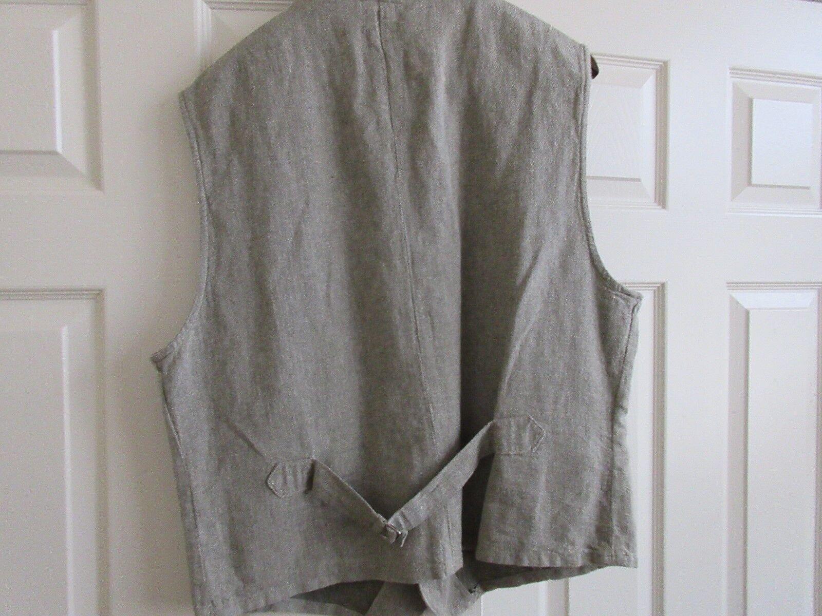 Men's Vest , Claiborne ,Green/Tan , Large Size ,Vintage