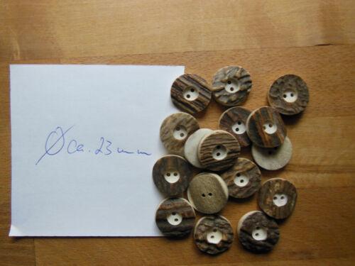 0 29//32 en DM Garb//Oktoberfest 1 ?? pieza genuina botones de cuernos de ciervo Aprox