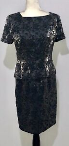 New-Maggy-london-Dress-Size-6-Black-And-Silver-Cocktail-Dress-Sequin-Christmas
