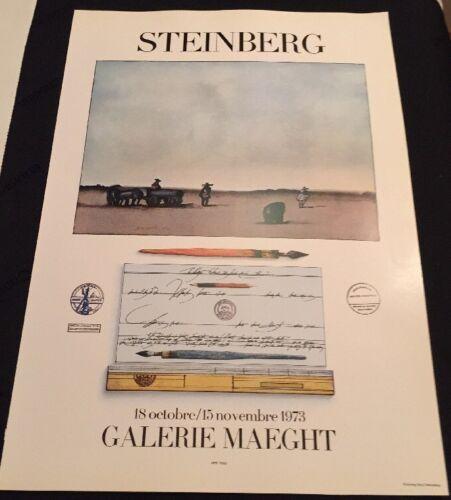 Galerie Maeght 1973 Poster Modern Art Saul Steinberg