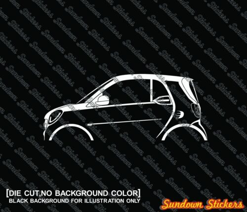 2014 for Smart Fortwo coupe W453 2x car silhouette stickers