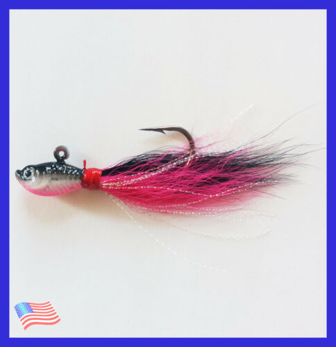 Blackfish New 1 Oz Fluke Saltwater Bucktail Jig Offshore Fishing Flounder