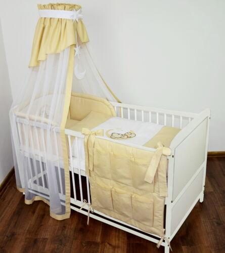 Babybett Kinderbett Juniorbett 2 in1 Umbaubar 120x60 Bettwäsche Bettset Neu