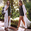 thumbnail 2 - Women Lace Crochet Long Cardigan Summer Beach Holiday Top Floral cardigan