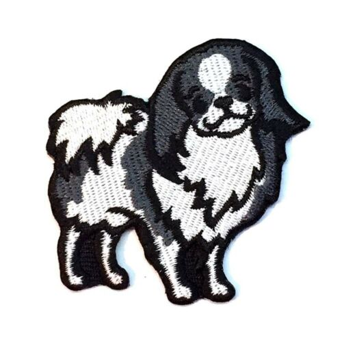 Japanese Chin Iron On Embroidered Patch