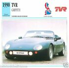TVR GRIFFITH 1990 CAR VOITURE GRANDE GREAT BRITAIN BRETAGNE CARTE CARD FICHE