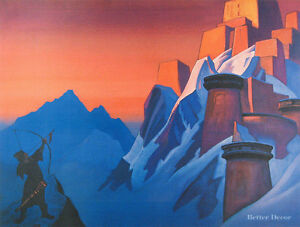 28-034-PRINT-Message-from-Shambhala-by-N-Roerich-MUSEUM-ART-MOUNTAIN-LANDSCAPE