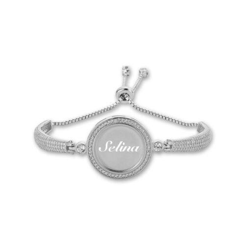 Gravur Wunschgravur Geschenk Snake Zirkonia Armband aus 925er Silber inkl