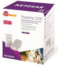 Netgear PL1200-100UKS 1200 Mbps Powerline Ethernet Adapter Homeplug - Twin Pack