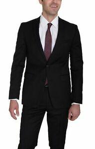 Bar-III-Extra-Slim-Fit-Solid-Black-Two-Button-Wool-Suit