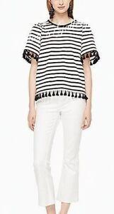 Kate-Spade-Handbag-Tank-T-shirt-Tee-T-shirt-Top-Blouse-Flutter-sleeve-NWT-KSNY