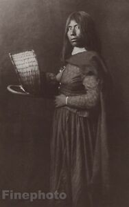 c.1900/72 Photo Gravure NATIVE AMERICAN INDIAN Mohave Female EDWARD CURTIS 11x14